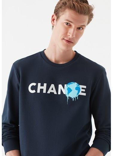 Mavi Change Baskılı  Sweatshirt Lacivert